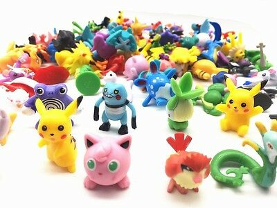 24pcs/lot Random Pokemon Action Figures New Cute Monster Mini Figures Toys!