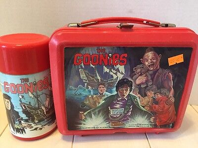 HOLY GRAIL - THE GOONIES Lunchbox and Thermos -ULTRA RARE 1985 Aladdin Lunch Box