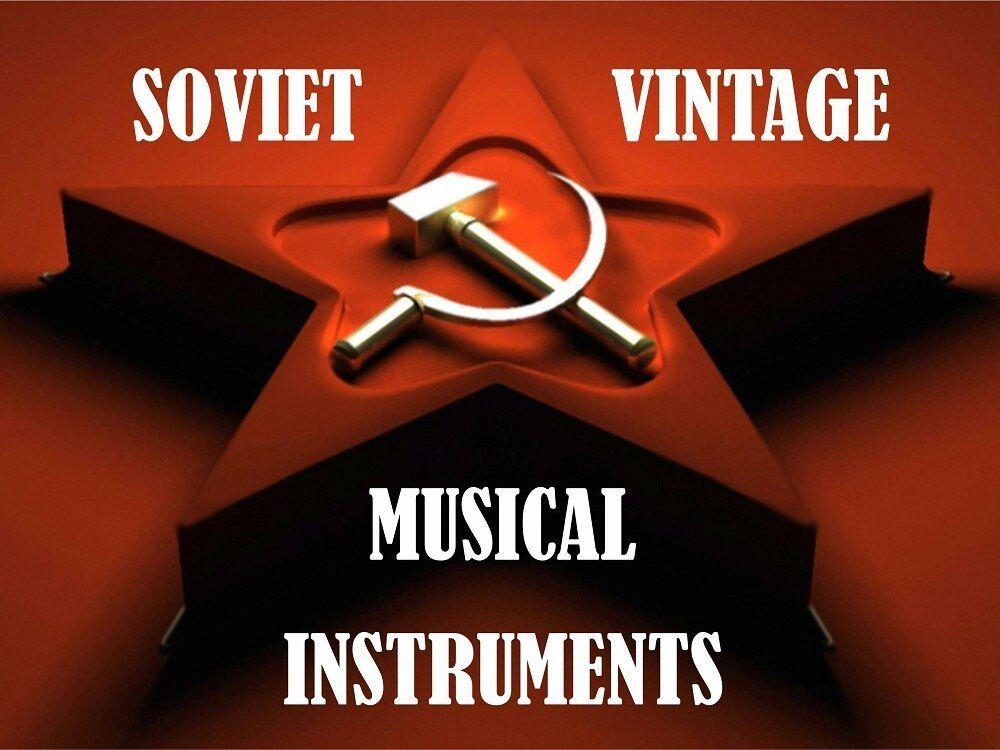 Soviet vintage musical instruments