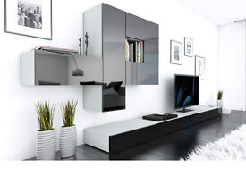 Delivery 1-10 days BRICS Modular Wall Unit and TV Stands Brand New 3 colours High Gloss