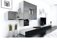 BRICS Modular Wall Unit and TV Stands Brand New Free Delivery 1-3 days 3 colours High Gloss