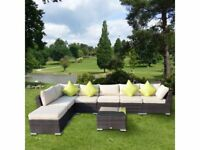 **FREE & FAST UK DELIVERY** Massive Rattan Luxury Garden Corner Sofa Set - BRAND NEW!