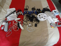 Nintendo Wii (3 Consoles) 4 x Gamecube Hand Controllers and Various Accessories