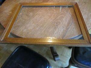 Cadre en chene MAILLÉ avec vitre originale vintage