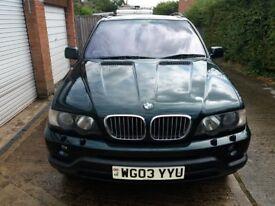 BMW X5 4.4i very good condition, fabulous engine, cream leather interior, 7 mos MOT