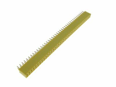 2x40 80-pin Female Straight Header 2.54mm - Yellow Pack Of 5