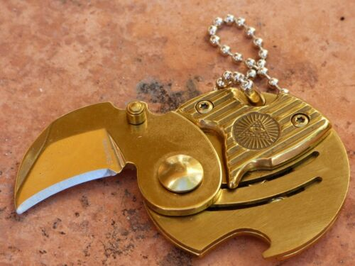Masonic EDC Keychain, Necklace Square and Compass Mason Freemason Gold Keyring