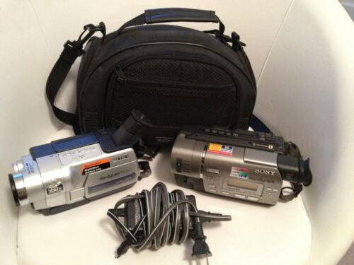 Sony Handycam CCD-TR517 & TRV318 8mm Video8 HI8 HI 8 Camcorder VCR Player