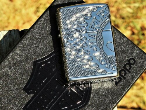 Harley Davidson Limited Edition Willie G Skull Zippo Lighter - Deep Carved Armor