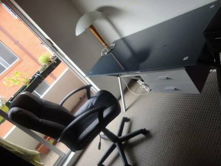 Glass desk and chair Randwick Eastern Suburbs Preview