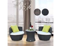 *FAST AND FREE DELIVERY* Outsunny 3 Piece Outdoor Garden Rattan Furniture Set - BRAND NEW
