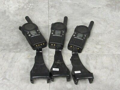 Lot Of 3 Motorola Cls1110 Uhf Two-way Radios Belt Clip Tested