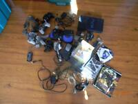sony ps2 and alot of accessories