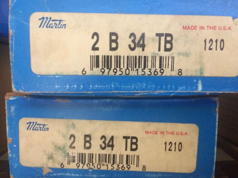 Martin 2 B 34 TB Taper Bushed Sheave, A/B Belt , 2 Groove