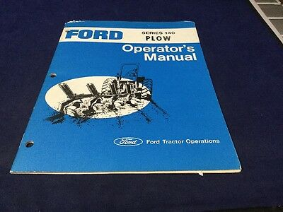 Ford Operator Manual Series 140 Plow