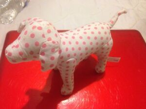 Victoria's Secret PINK Mini Dog White With Small Polka Dots RARE