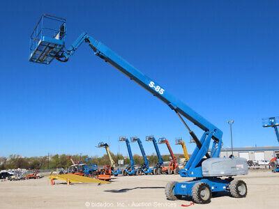 2012 Genie S-85 85 4wd Diesel Telescopic Boom Lift Man Aerial Bidadoo -repair