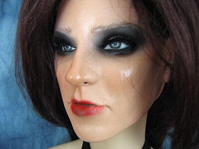 Latexmaske KIRA +WIMPERN +PERÜCKE Frauenmaske Gesicht Trans MTF Crossdresser