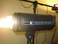 Three (3) - Dison Digital 600W Fan Cooled Studio Strobes
