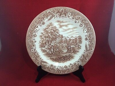 Currier & Ives Brown Heritage Mint Harvest Pattern Plate