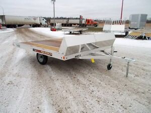 2017 Aluma Ltd. 8610T Flatdeck Snowmobile Trailer