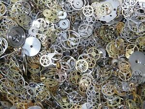 Steampunk Watch Parts Assorted Cogs Wheels Plates x 10 Grams