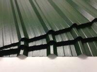 Box profile steel sheets, juniper green plastisol x .7mm
