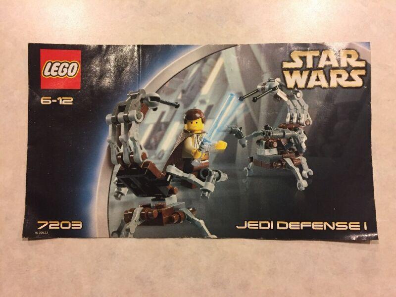 7203 Star Wars Jedi Defense I Lego Instruction Manual Only