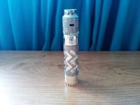 AV Able Avidlyfe Complyfe Style 18650 Mechanical Mech Mod E Shisha Vape Kit Silver For Cloud Chasing