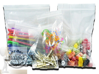 """5000 SMALL GRIP SEAL RESEALABLE BAGS SIZE 3 X 3.25"""" 75 X 80mm CLEAR POLYTHENE"""