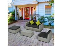 **FREE & FAST UK DELIVERY** 5 Piece Rattan Sofa Set Furniture - BRAND NEW!