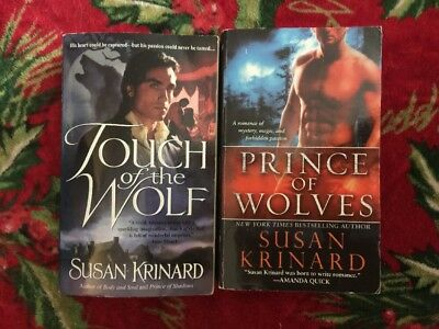 - Lot of 2 Susan Krinard Books Touch Of The Wolf Prince Of Wolves