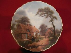 """Collector's Plate:""""The Cherry Blossom Hideaway""""by Thomas Kinkade"""