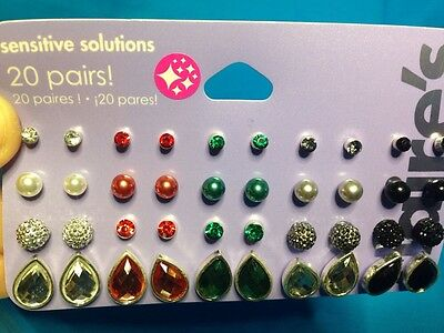 20 Pairs Of Claires Sensitive Solutions Pierced Earrings See Pictures