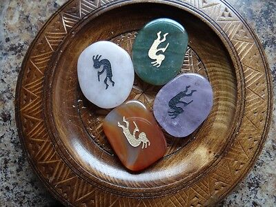 *KOKOPELLI* Carved Worry Stone Gemstone Totem Wiccan Pagan Familiar Metaphysical