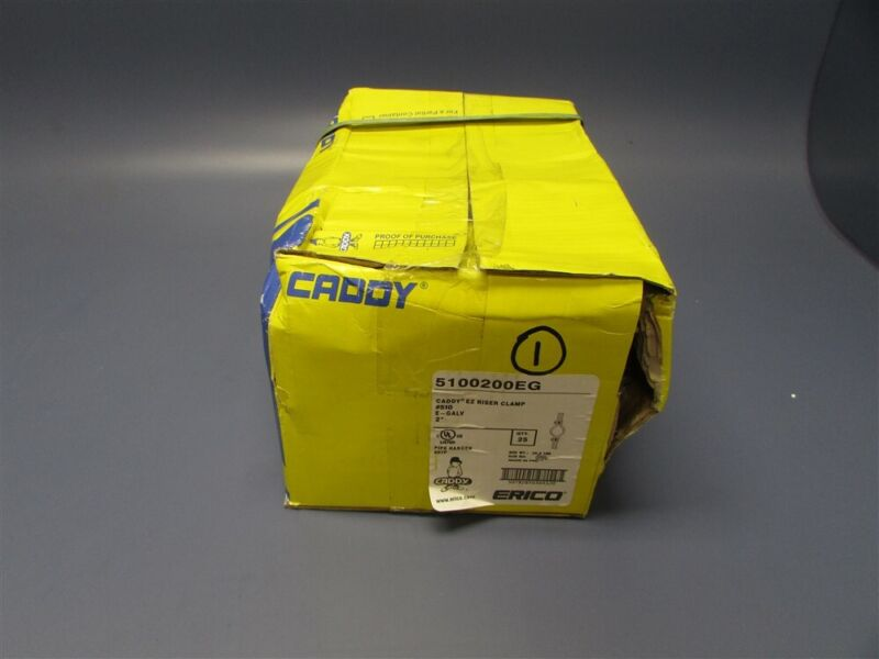 "Box of 25 Erico Caddy 2"" E-Galv Ez Riser Clamp #510 5100200EG"
