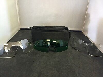 3x Replacement Lenses UVEX By Sperian 2CLEAR 1GREEN for sale  Griffin