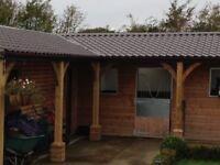 Tile effect roofing sheets, vandyke brown plastic coated
