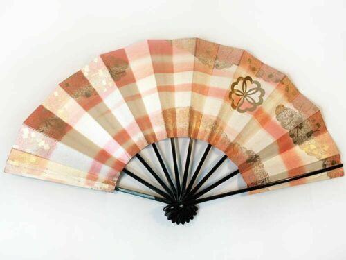 """*VINTAGE* Japanese Dance Fan - Geisha Odori """"Maiogi"""" Large Folding Hand Fan"""
