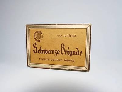 alte Zigarrenschachtel SCHWARZE BRIGADE  Pappschachtel für 10 Zigarren
