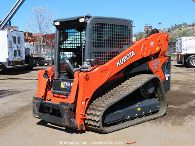 2019 Kubota Svl95-2s High Flow Tracked Skid Steer Loader Crawler Ac Cab Bidadoo