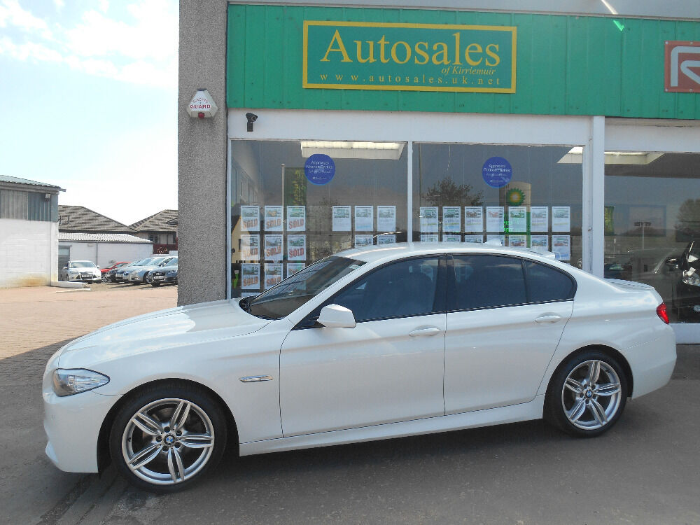 bmw 5 series 520d m sport white 2013 in kirriemuir angus gumtree. Black Bedroom Furniture Sets. Home Design Ideas
