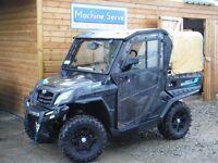 All terrain UTV Quadzilla Tracker 550, full cab and rear canopy.