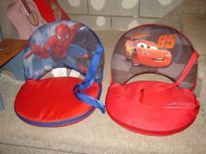 2 FOLDABLE BOOSTER SEATS(SPIDERMAN & CARS)/CHAIRS/TOYS