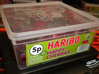 HARIBO 120 HAPPY CHERRIES 924g TUB UK SWEETS PARTY HALLOWEEN BIRTHDAY ETC ()