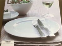 8 x LSA Lunch/Breakfast Plates Rimmed (25cm) - NEW!