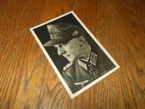 WW2 German Wehrmacht Gebirgsjager Gen. Lt. Max Schrank - WARTIME AUTOGRAPH RARE!