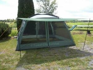 New - LARGE 12X12 YANES SCREEN HOUSE GAZEBO TENT WITH RAIN FLAPS -- QUICK AND EASY TO PUT UP AND TAKE DOWN !!!