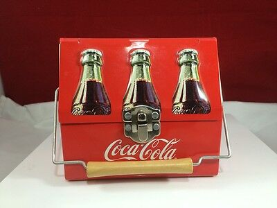 COLLECTIBLE COCA-COLA TIN WITH HANDLE
