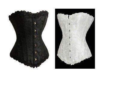 sexy corsetto bustino burlesque stringivita lingerie intimo da donna nero 4043.1